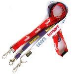Printed polyester lanyards, promotional lanyards sku: 0001